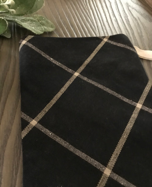 Black Plaid Christmas Stocking