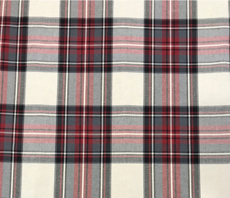 Tartan Red Fabric