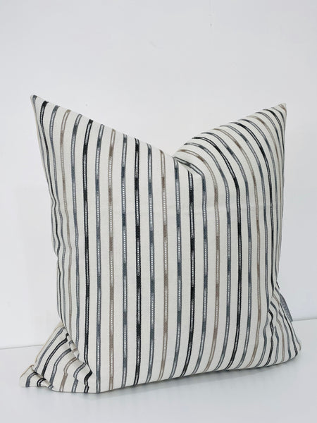 Stripes of Blues Pillow Cover