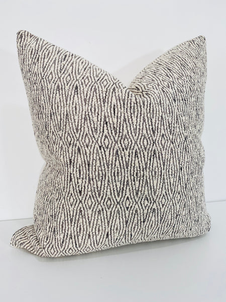 Textured Diamond in Black and White Pillow Cover