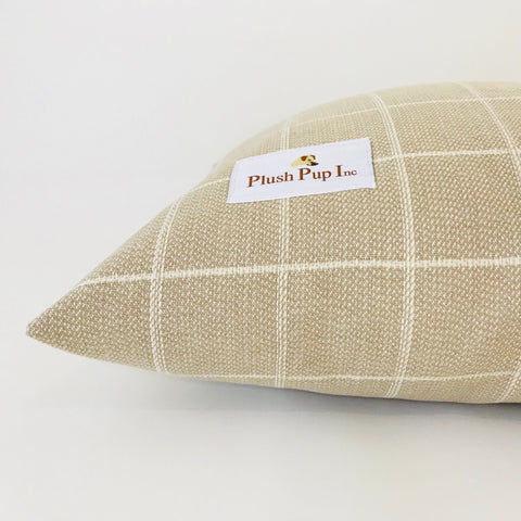 DOG BED, Brown Checks Designer Dog Bed, Larger Dog Bed, Durable Dog Bed, Plush Pup Inc Dog Bed