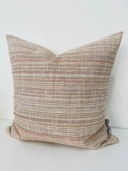 Pink Texture Stripes Pillow Cover