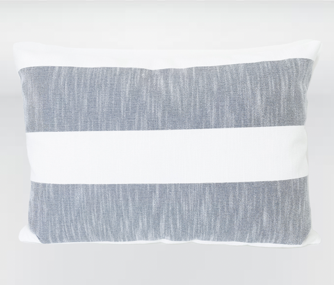 Cabana Stripe Pillow Cover, Outdoor Pillows, Outdoor Pillow Cover, Cabana Outdoor Pillow, Outdoor Pillows, High End Pillows, Designer Pillows, Hackner Home, Outdoor Furniture, Patio Decor, Patio Pillows, UV Protected Pillows, Water Resistant Pillows, Decorative Pillow Covers for outdoor, Decorative Pillow Covers, Gray outdoor pillows, Gray Stripe Outdoor Pillows, Modern Pillows