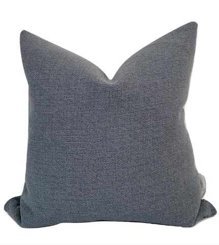 Slate Pillow Cover, Slate Blue Pillow Cover, Designer Pillow Cover, Decorative Pillow Cover, Hackner Home, Decorative Pillow Covers, Home Decor Pillows, Textured Pillows. Textured Pillow Covers, Curated Pillows, Modern Farmhouse Pillows, Modern Pillows, Minimal Pillows, Moody Pillows, Moody Blue Pillow, High End Pillows