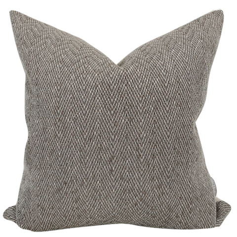 Greige Pillow, Gray Pillow, Grey Pillow, Decorative Pillows, Designer Pillows, Hackner Home, Curated Pillows, Textured Pillow, Jumper Pillow, Brown Pillow, Minimal Pillows, California Casual Design, Neutral Pillows