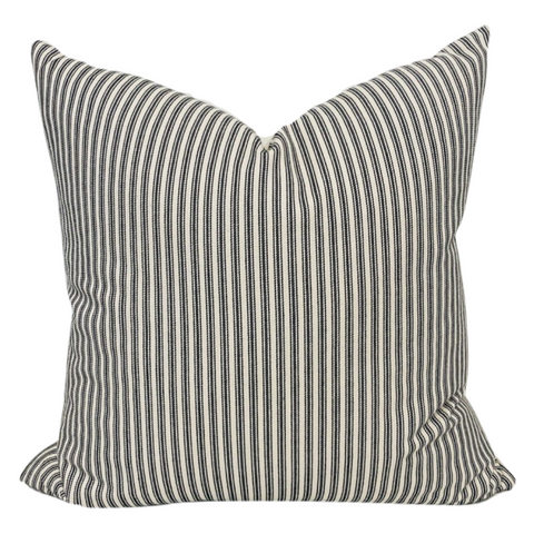 Black Stripe Pillow Cover, Black Ticking Stripe Pillow, Vintage Pillow Cover, Vintage Pillows, Designer Pillows, Striped Pillows, Hackner Home, kids room pillows, vintage bed room decor, Black Striped Pillow, Ticking pillows, Christmas Pillow Cover, Hackner Home, Designer Pillow, Decorative Pillows, Farmhouse Pillow, Modern Farmhouse Pillow
