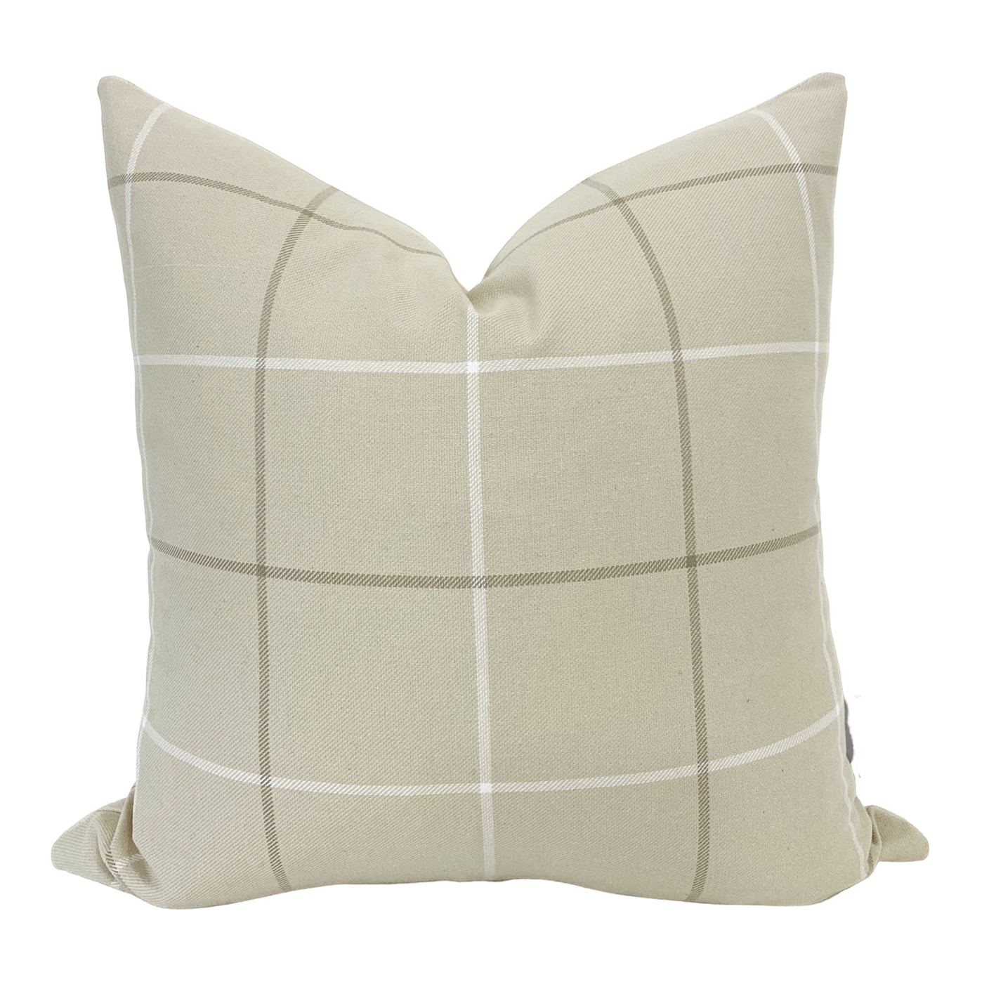 Cream Pillow, Plaid Pillow, Neutral Pillow, Farmhouse Pillow, Decorative Pillow Cover, Cream Plaid Pillow, Windowpane Pillow Cover, Linen Pillow, Hackner Home, Designer Pillows, Fall Pillows, Fall Decor
