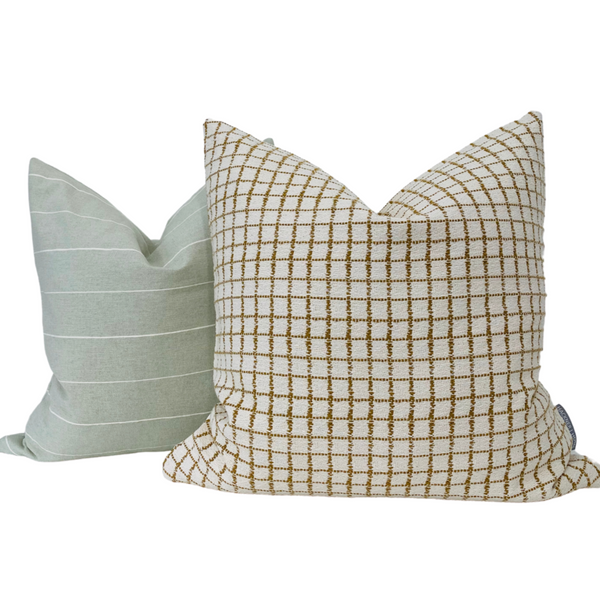 Fall Pillows, Hackner Home Pillows, Decorative Pillow Covers, Designer Pillows, Up Scale Pillows, Curated Pillows, Autum Pillows, Brown Pillow, Check Pillows, Plaid Pillows, Textured Pillows, Living Room Decor, Home Decor Pillows, Pillow Shop, Yellow Pillows, White Pillows, Neutral Pillows, Hackner Home