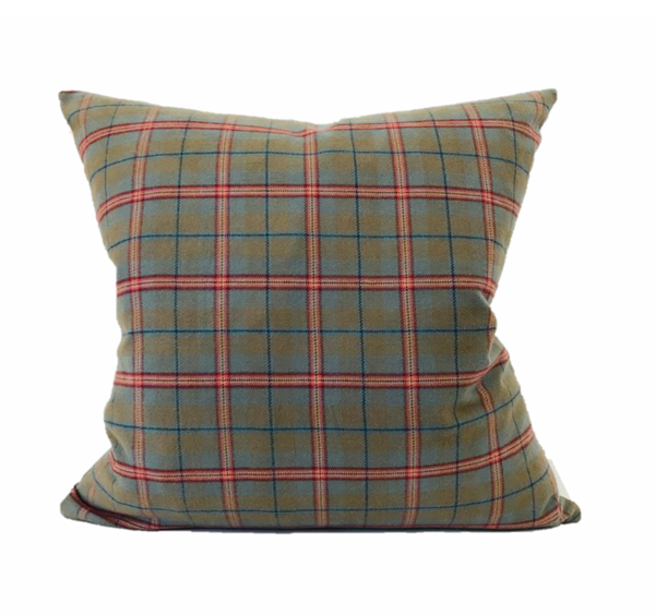 Green and Red Plaid Pillow Cover, Christmas Pillow Cover, Plaid Pillows