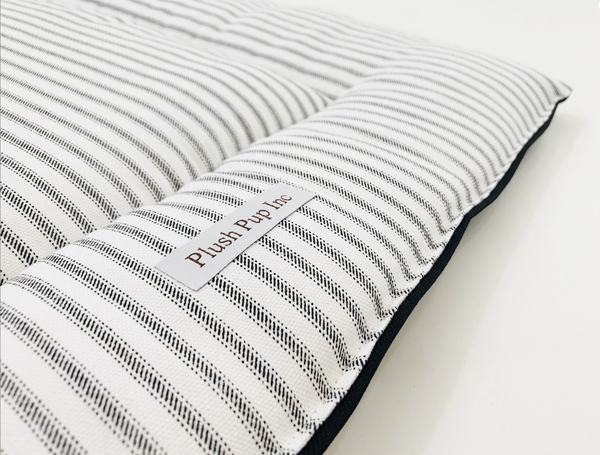 Crate Pad, Dog Crate Pad, Ticking Stripe Crate Pad, Crate Bedding