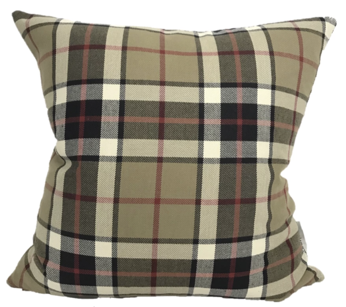 Plaid Pillows, Autumn Decor, Hackner Home, Farmhouse Pillows, Modern Farmhouse Design, Decorative Pillow Covers, Brown Pillow Cover, Distressed Pillow Covers, Designer Pillow Covers
