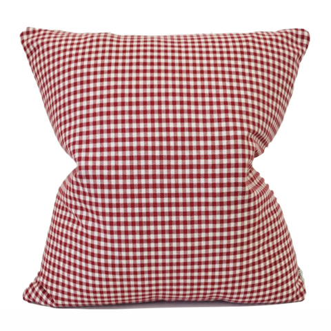 Red Check Pillow, Red Decorative Pillow, Red Farmhouse Pillow, Red Plaid Pillow, Hackner Home, Decorative Pillows, Designer Pillows, Through Pillows