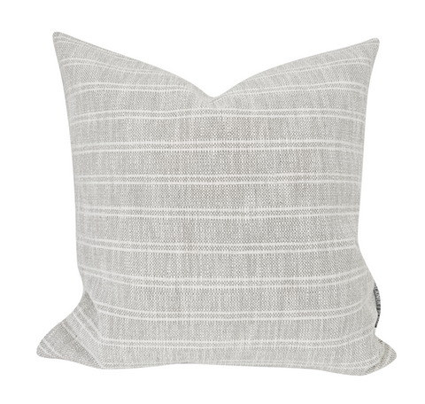 Light Gray Pillows, Grey Pillows, Textured Pillow Cover, Warm Neutral Pillow Cover, Striped Pillow Cover, Hackner Home Pillows, Designer Pillows, Decorative Pillows, Woven pillows, Gray Pillows