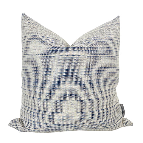Blue Decorative Pillow, Blue Boho Pillows, Decorative Pillow Covers, Hackner Home, Hackner Home Pillows, Designer Pillows, Blue pillows, Textured Pillows, Pillow Shop, Curated Pillows, Designer Pillow Covers, Blue Cushion Covers