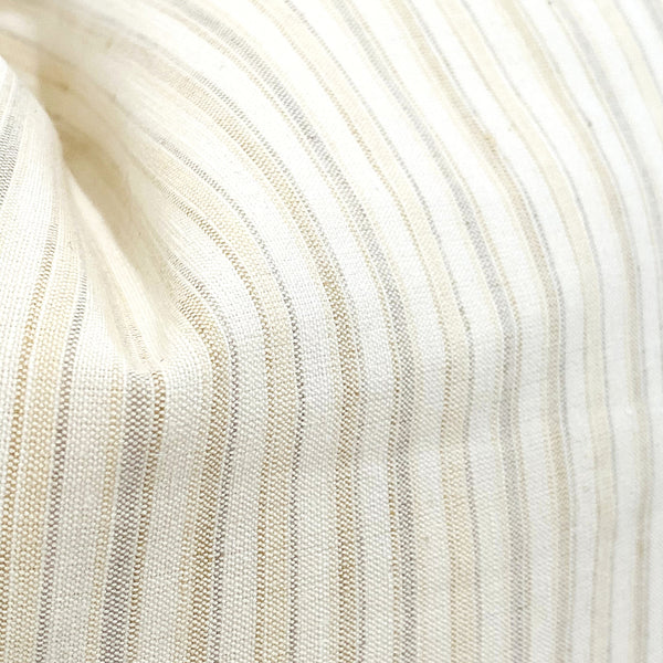 Linen Stripes - Cream & Taupe