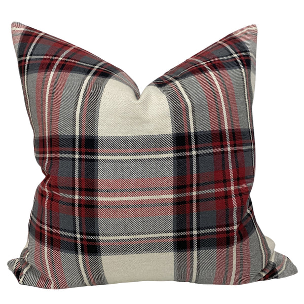 Red Plaid Pillows, Red Pillows, Hackner Home, Decorative Pillows, Christmas Pillows, Red Plaid Pillows, Holiday Pillows, Christmas Decor