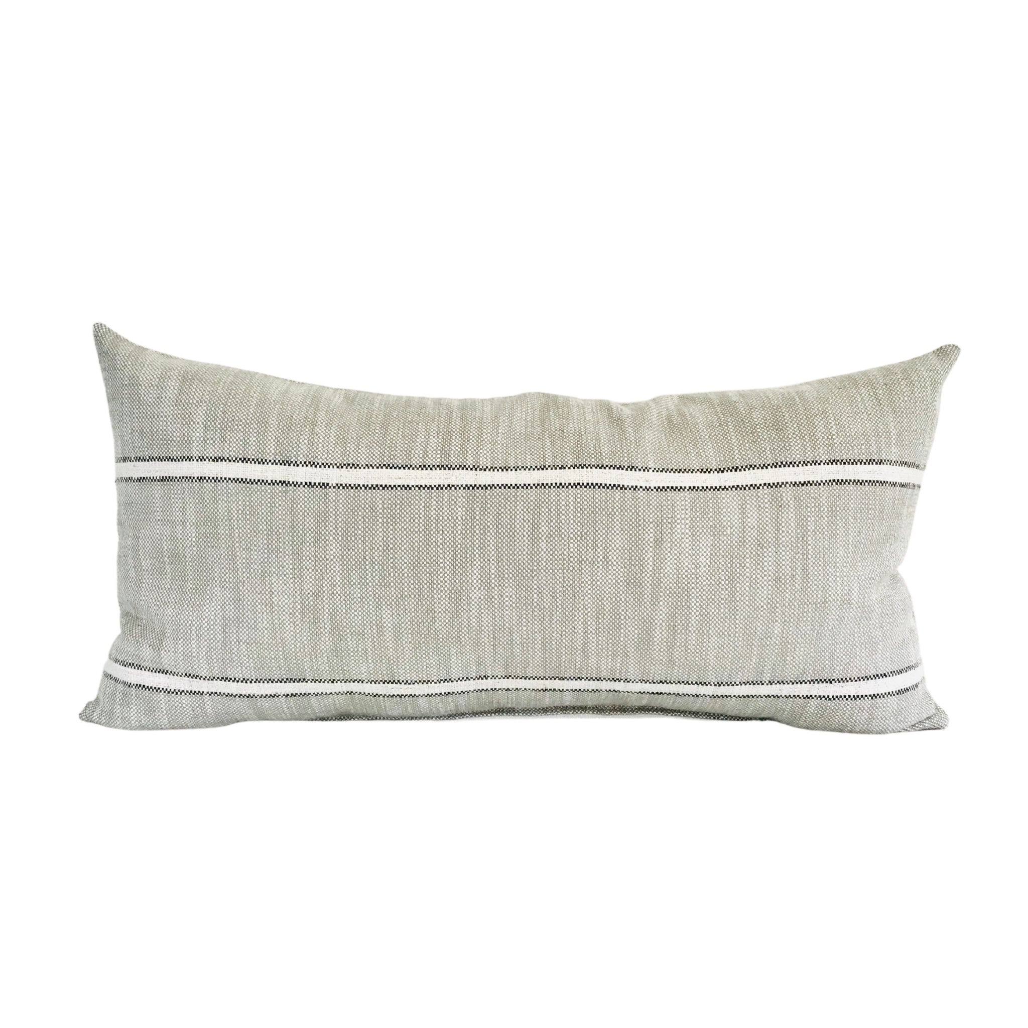Decorative Lumbar Pillow Cover, Moody Pillow Covers, Designer Pillows, Decorative Pillow Covers, Hackner Home, Up Scale Pillows, Weathered Stripe Pillow, Gray Pillows, Moody Pillows, Moody Decor, Vintage Inspired Pillows, Striped Pillows,  Modern Farmhouse Pillows, Boho Farmhouse Pillows