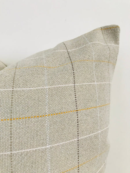 Taupe Mustard Plaid