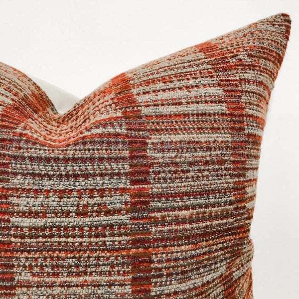Rust Red Pillow, Textured Pillow, Modern Boho Pillow, Rust Pillows, Mid Century Pillows, Designer Pillows, Decorative Pillows, Hackner Home, Throw Pillows, Brown Pillows, Decorative Pillow Covers