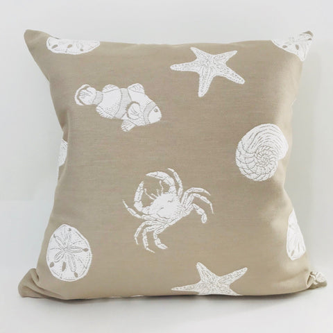 Star Fish Pillow, Beach Theme Pillow Cover, Beach Pillow, Fish pillow cover, Coastal Pillow, Starfish pillow, Crab Pillow, Sand Dollar Pillow, Hackner Home, Designer Pillow, Summer Pillows, Modern Costal Pillows
