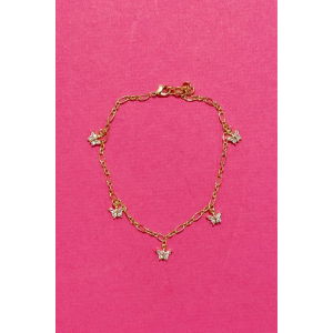 Butterfly Row Anklet