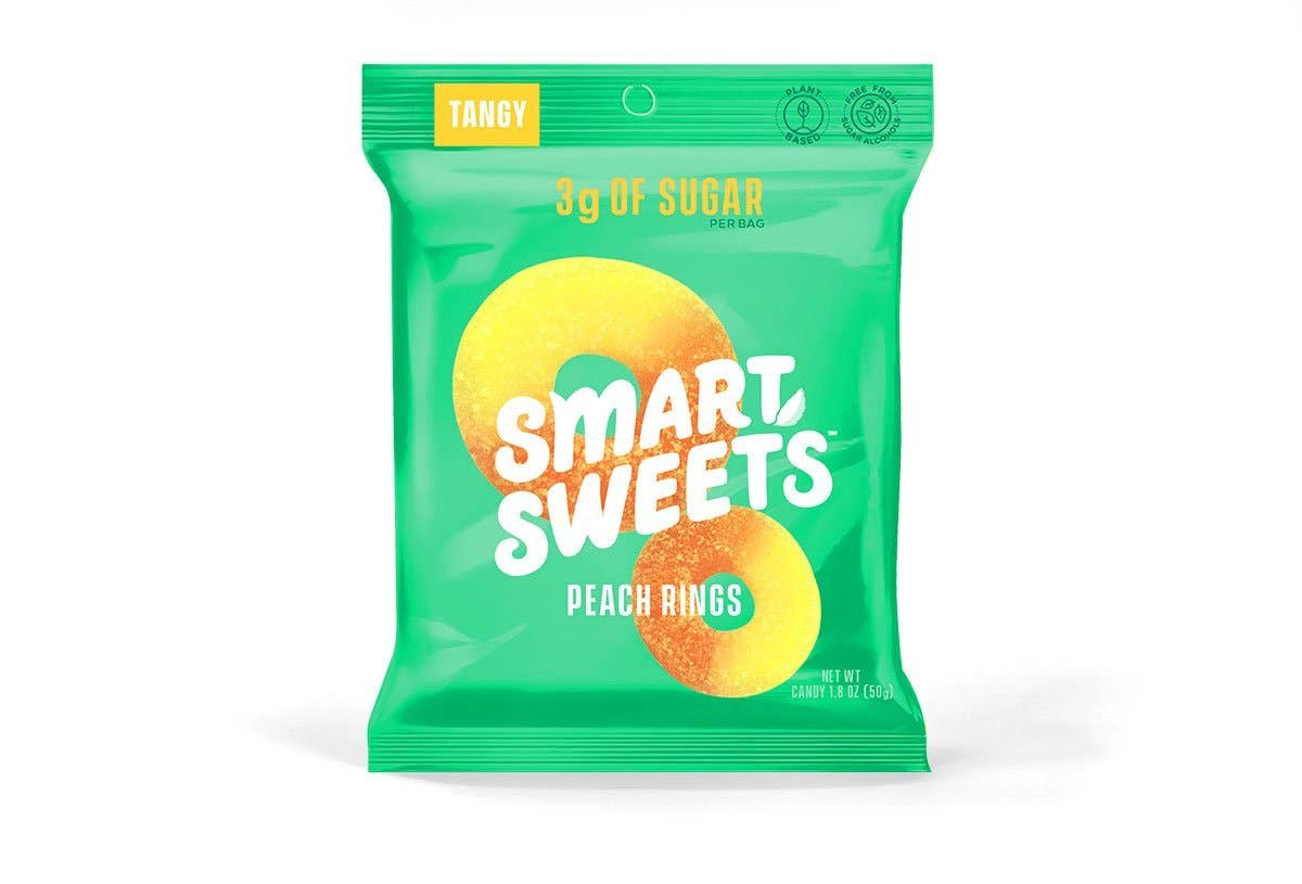 SmartSweets Peach Gummy Rings