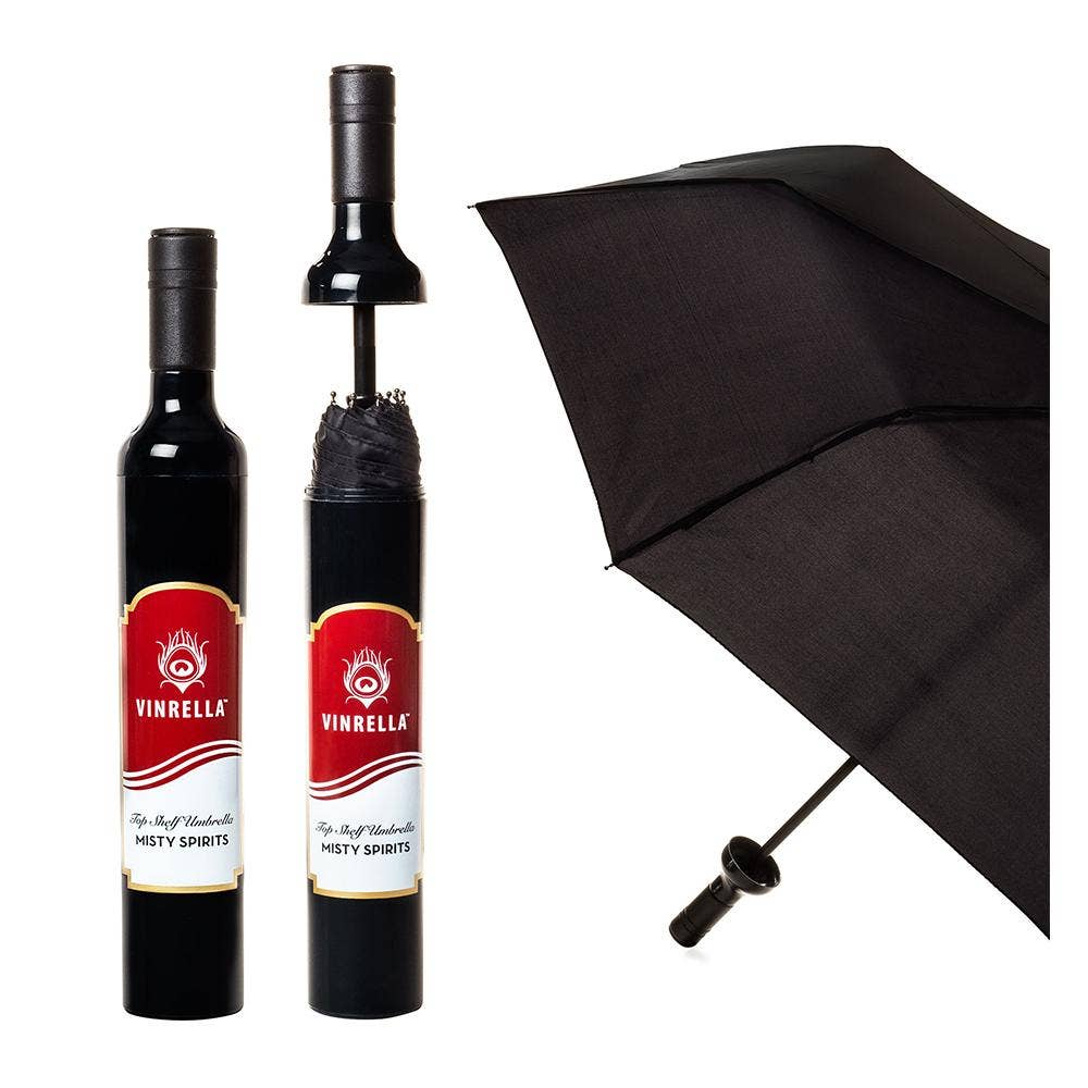 Misty Spirits Wine Bottle Umbrella