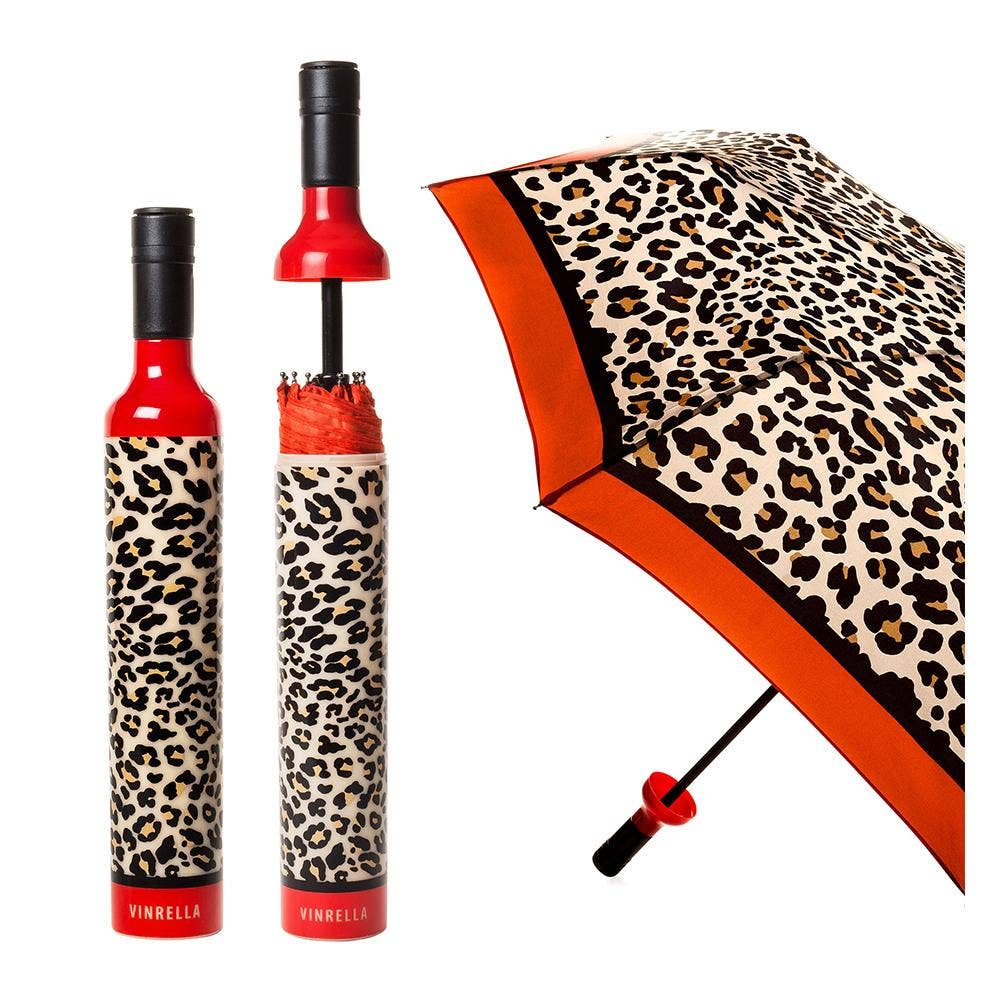 Leopard Print Bottle Umbrella