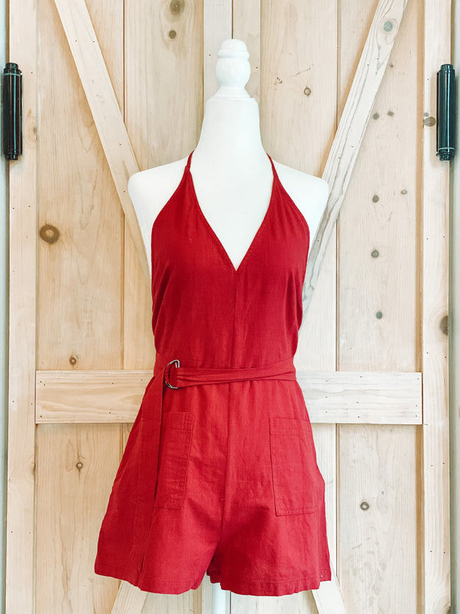 VERY BERRY ROMPER
