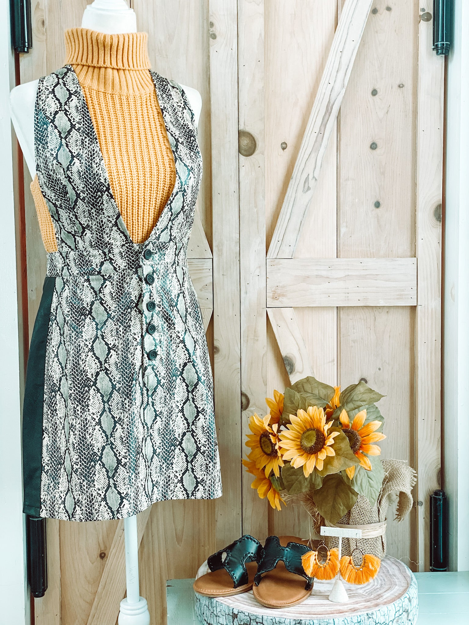 FALL STATEMENT DRESS