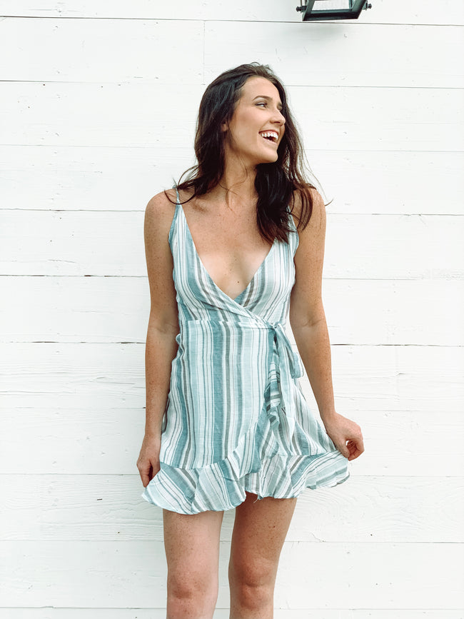 RUFFLE RIVER DRESS