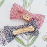 Knit Bow Hair Clip