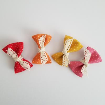 Dot Bow Hair Clip Set