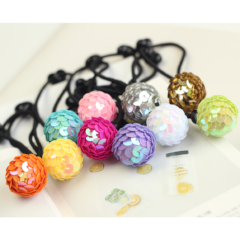 Vivid  Ball Hair Tie
