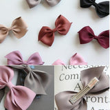 Silky Bow Hair Clip Set