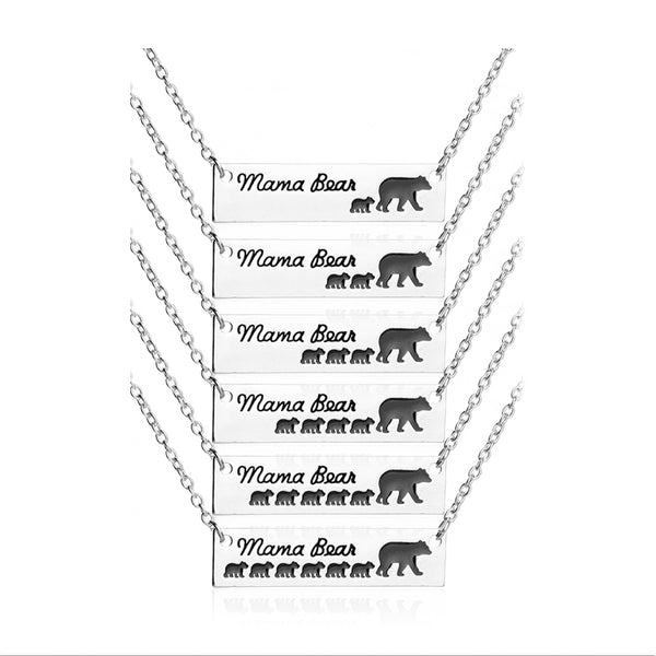 Children Birthday Mama Baby - Bear Necklace - usefulitem