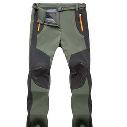 New Winter Men Women Hiking Pants - Outdoor Softshell Trousers - usefulitem