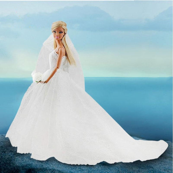 FREE Wedding Dress for Barbie Doll - usefulitem