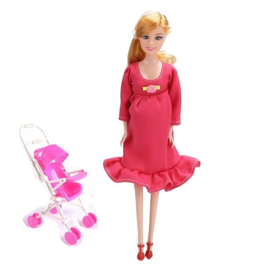 New MOM and Baby Strollers for Pregnant Barbie Doll - usefulitem