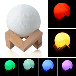 3D Colorful Moon Light - usefulitem