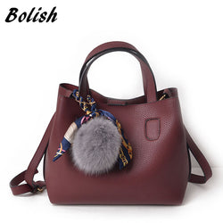Litchi Pattern Soft Leather Handbag for Women - usefulitem