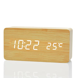 Wooden Digital LED Alarm Clock
