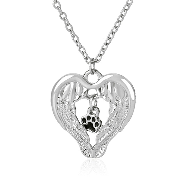 Aangle Wings Protect Pet Paw Necklace - usefulitem