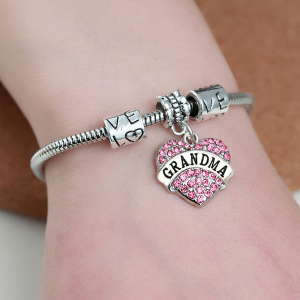 FREE Family Gift for Grandma-  Bracelets with Love Heart - usefulitem