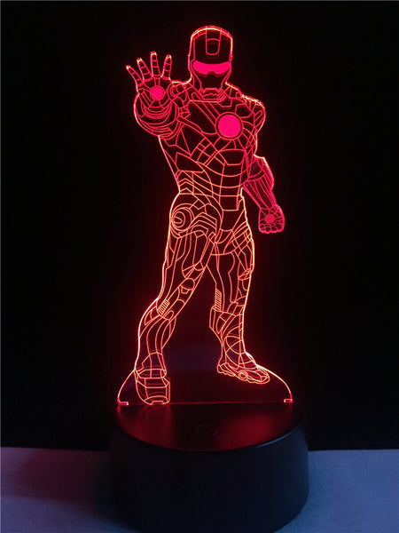 Iron Man LED 3D Optical illusion Lamp - usefulitem