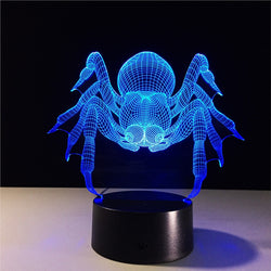 3D LED Night Optical Illusion Lamp with 7 Colors - usefulitem