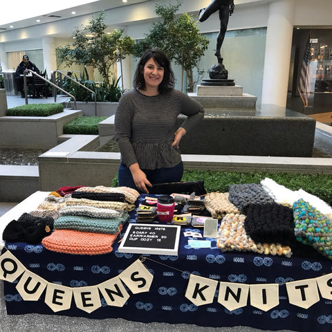 Queens Knits women owned business at Queens Market