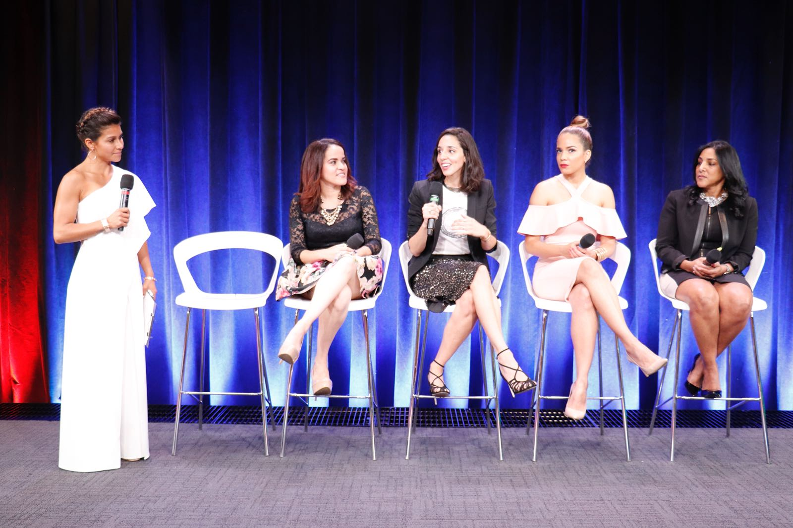 Around Eco founder Jenn Velez talking at Google panel discussion in NYC as part of Latinas En New York