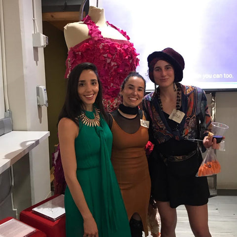 NYC Fair Trade Coalition Gala and Fundraiser in this picture Founder Jenn Velez of Around Eco along with business owners Isabel Varela and Nicole Moss