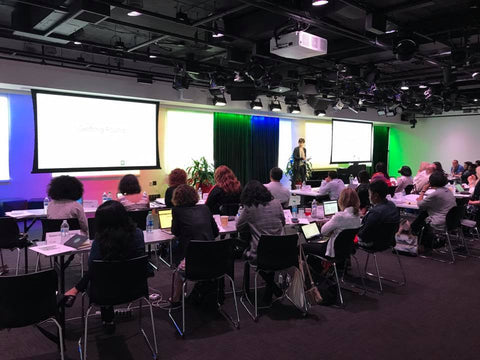 Professor teaching at Google Digital Excellence program in Washington DC